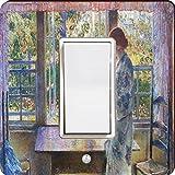 Rikki Knight 3014 Single Rocker Childe Hassam Art The Goldfish Window Design Light Switch Plate