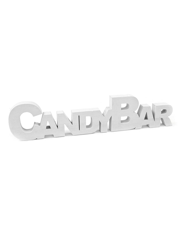 "Decoración de mesa, de madera, con ""Candy Bar"", 27 cm: Amazon.es ..."