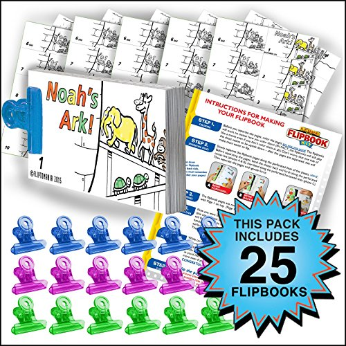 Fliptomania Noah's Ark Flipbook Animation Activity Pack - 25 Sets DIY Flip Books