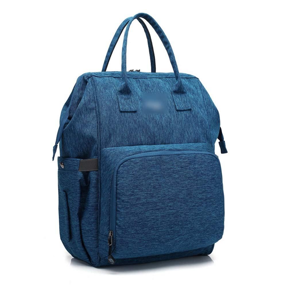 Ryggsäck multifunktionell vattentät ryggsäck stor kapacitet ryggsäck damryggsäck (färg: grå) blå
