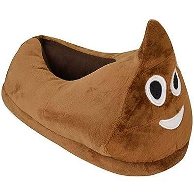 363729b588be Kids Childrens Emoji Unisex Indoor Slippers Warm Winter Xmas Gift Poo Wink  Joy  Amazon.co.uk  Shoes   Bags