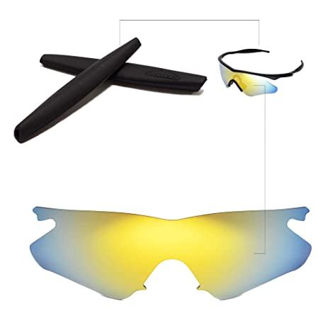 Amazon.com: Walleva Replacement Lenses + Rubber for Oakley M Frame ...