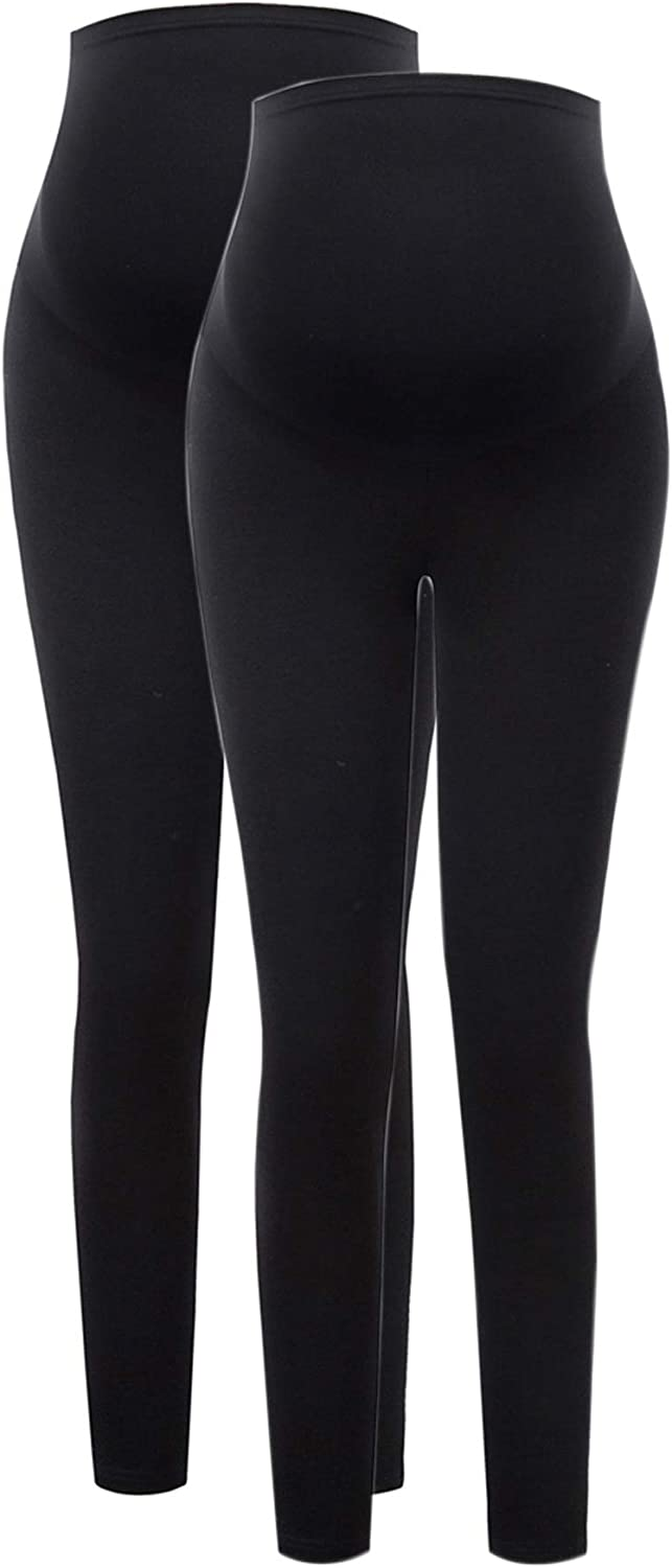 Maacie Womens Maternity Essential Stretch Full Length Secret Fit Belly Leggings