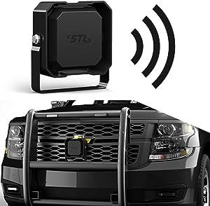 SpeedTech Lights Icon Speaker 100-Watt Emergency Vehicle Siren Speaker for High Performance Hazard Warning/Police, Fire Trucks, Ambulance Speakers System - Compact Speaker with Black Finish