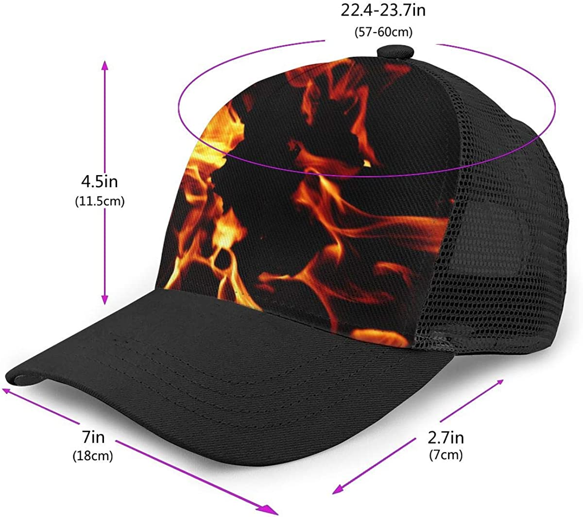 Fashion Sports Cap for Unisex Mens Wallpaper2you459035 Flat Baseball Cap