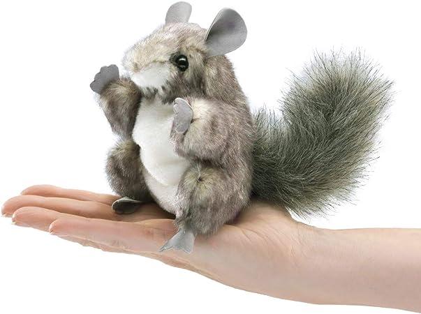 Folkmanis - Chinchilla, Mini muñeca para deslizarse en los Dedos