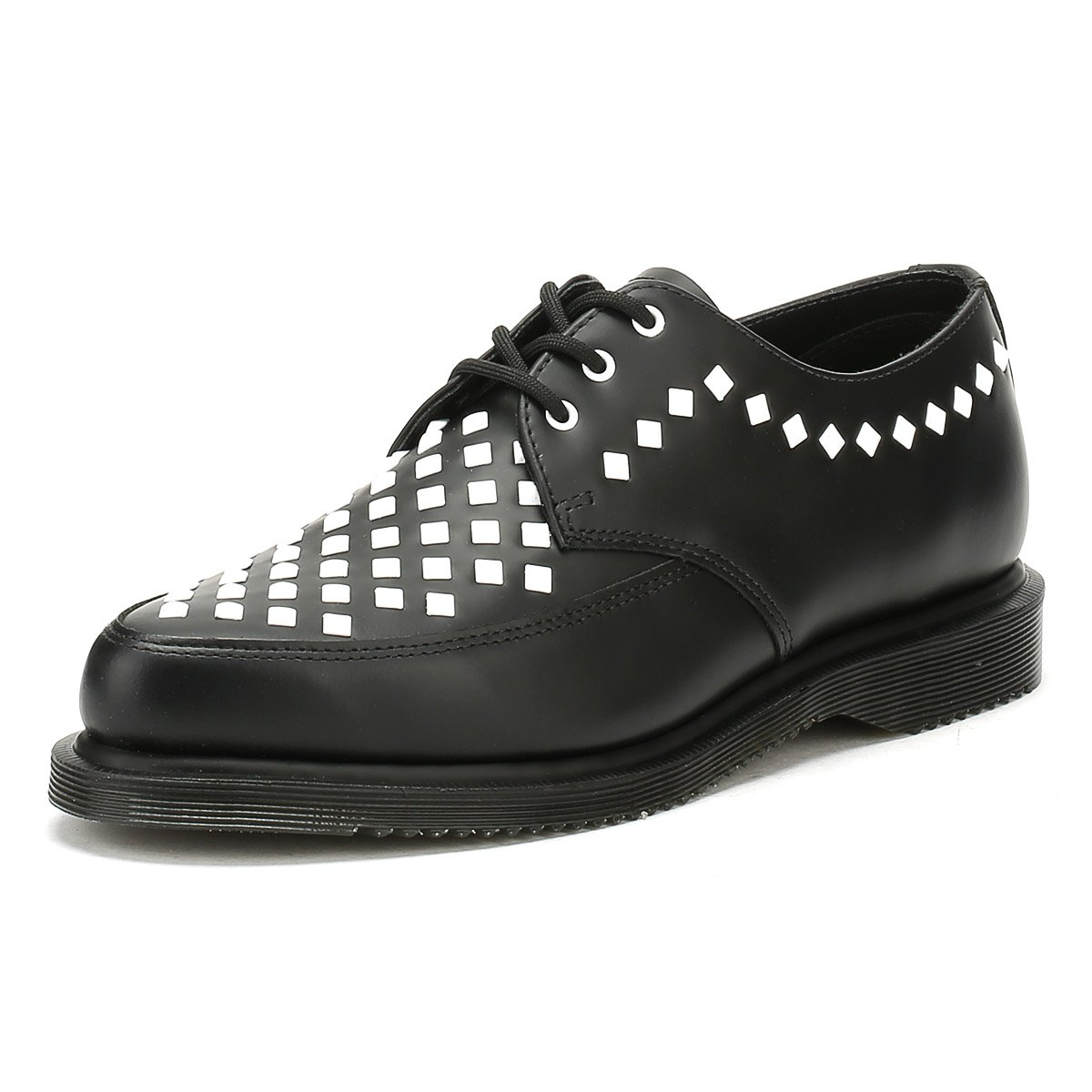 Dr. Martens Unisex Willis Stud Creeper B0721DZFYP 7 M UK|Black Smooth