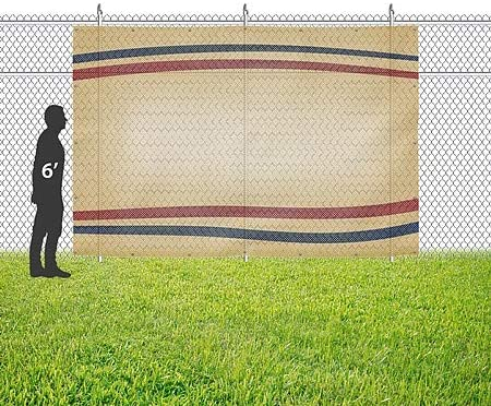 CGSignLab Nostalgia Stripes Wind-Resistant Outdoor Mesh Vinyl Banner 12x8 Blank
