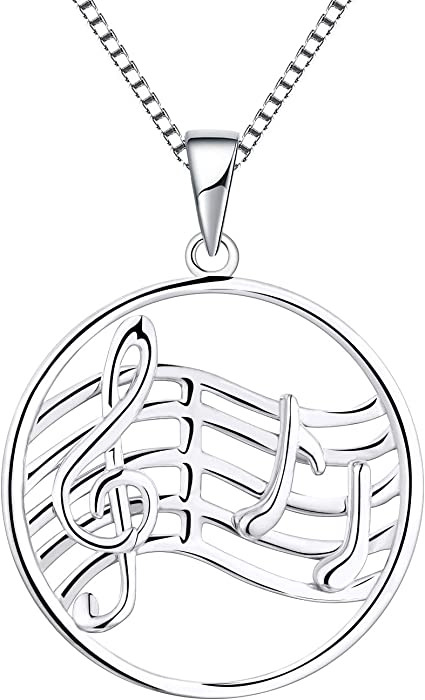 collar de plata notas musicales