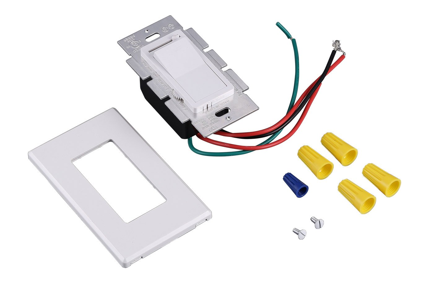 Cloudy Bay In Wall Dimmer Switch For Led Light Cfl Incandescent 3 Fitting To Old Electrical Wiringdimmerinstructionsjpg Way Single Pole Dimmable Slide 600 Watt Max Cover Plate Included