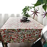 HOMEE Western style printed cloth western style tablecloth Christmas decorations,A,100X100cm
