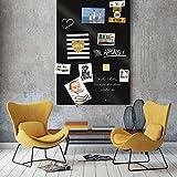 selbstklebende magnetische Tafelfolie 50x70 - schwarz -
