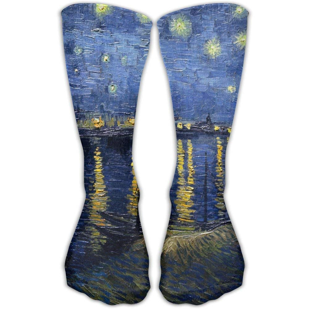 Women Men Classics Socks Starry Night Over The Rhone Vincent Van Gogh Athletic Stockings 60 cm Long Sock One Size: Amazon.es: Ropa y accesorios