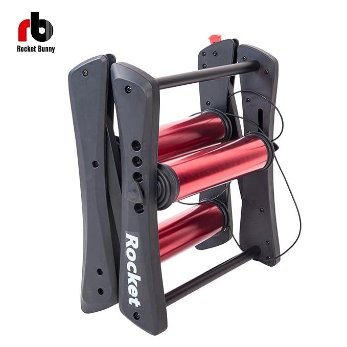 Rocket Bunny Rodillo magnético turbo para entrenar con bicicleta, plegable, para interior, para hacer ejercicio en invierno: Amazon.es: Deportes y aire ...