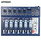 ammoon F7 – USB Mixer Mixing Console 7 Channel 3 Band Equalizer V Space Battleship Yamato Planets Power Dj Stage Karaoke For Listening To Music