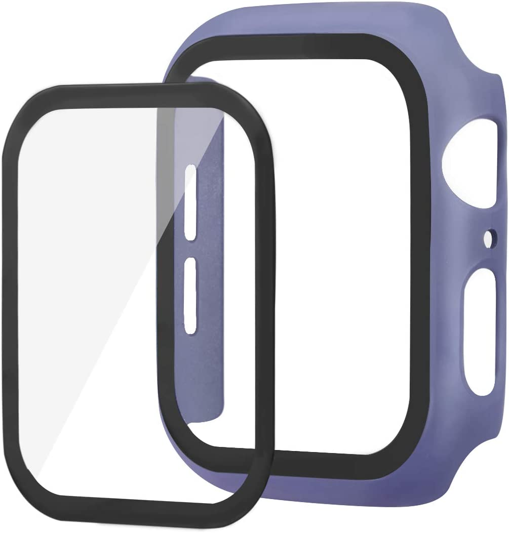 Case Compatible for Apple Watch Series 6 40mm 44mm Electroplate Slim Shockproof Bumper Protective Cover Non-Slip Silicone Shell for iWatch 6 iWatch SE iWatch 5 (Light Purple, 40mm)