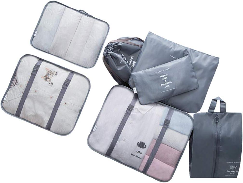 Repuhand 7Pcs Sac de Rangement de Voyage Cubes demballage Organiseurs de Bagage pour des V/êtements Cosm/étiques Sacs Set Voyage