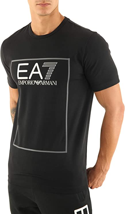 Emporio Armani EA7 Hombre Camiseta Black S: Amazon.es: Ropa y accesorios