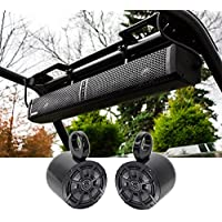 Hifonics TPS-10 Waterproof Bluetooth Marine ATV Soundbar+Kicker Tower Speakers