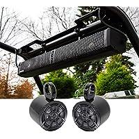 Hifonics TPS-10 Waterproof Bluetooth Marine ATV Soundbar+Kicker Tower Speakers