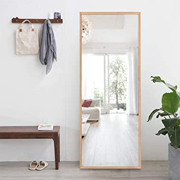 "ONXO Full Length Mirror Large Floor Mirror Standing or Wall-Mounted Mirror  Dressing Mirror Frame Mirror for Living Room/Bedroom/Coating Room (65""X22"",  ..."