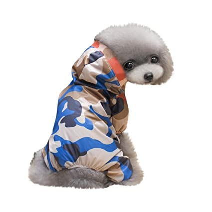 Longra☆ 2018 Pet Dog Impermeable con Capucha Mascota Impermeable Puppy Dog Jacket Outdoor Coat Mascotas