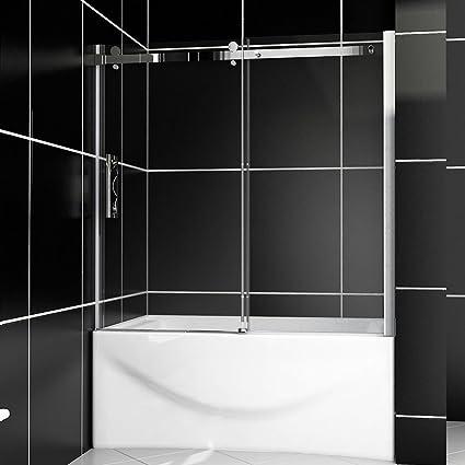 SUNNY SHOWER Model# B038, Sliding Bathtub Shower Doors, 60\