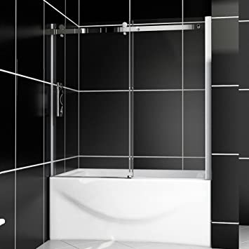 SUNNY SHOWER Model# B038, Sliding Bathtub Shower Doors, 60\