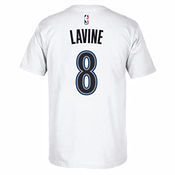 Zach Lavine Minnesota Timberwolves NBA Adidas Men White Official Player Name & Number Jersey T-