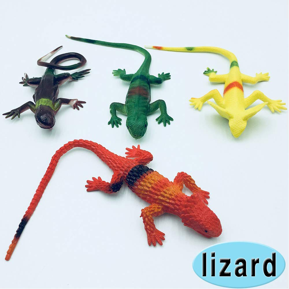 Rubber Toys Bats Spider Lizards Eagle Halloween April Fools Day Prank Props Realistic Plastic Toy Figures Gifts for Children Rich Boxer