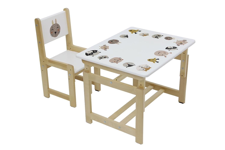 Set Tavolo e sedia per bambini, Polini Kids Eco 400 SM Modello in legno, 3051-03 Polini-Kids