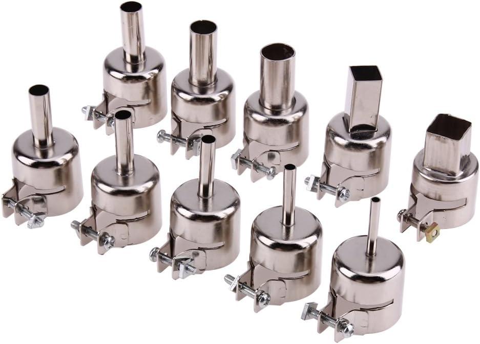 4pcs//Set Universal Stainless Steel Nozzles Hot Air Heat Gun Accessories V0C3