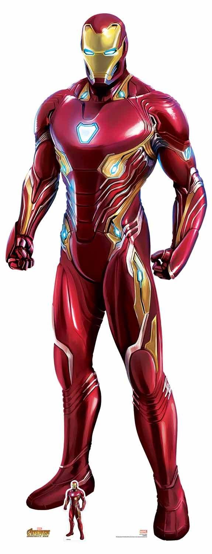 Star découpes Sc1145officiel Marvel personnage Grandeur nature Ironman Avengers infinity War Nanotech Suit Taille réelle en carton de la découpe, Multicolore, 192cm de haut, 74cm de large