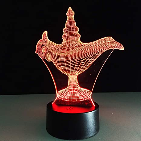 KangYD Lámpara Aladdin 3D, Lámpara de ilusión óptica ...