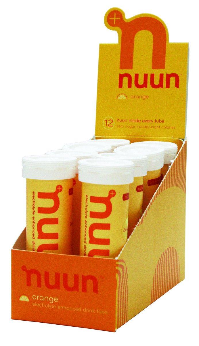 Nuun: Past Formula Electrolyte Enhanced Drink Tabs, Orange, Box of 8 Tubes