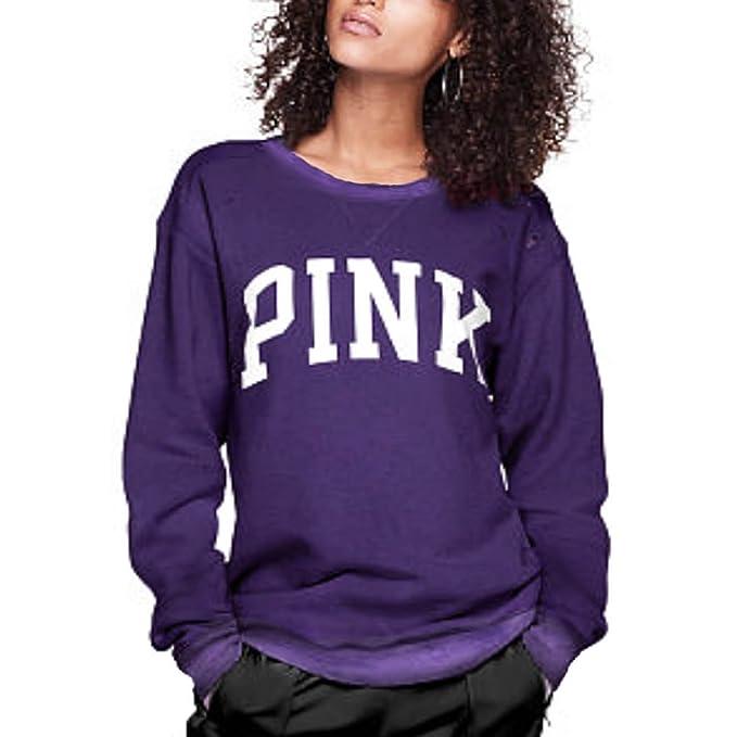 Pink Victorias Secret - Sudadera - para Mujer Morado Deep Sapphire Purple Small