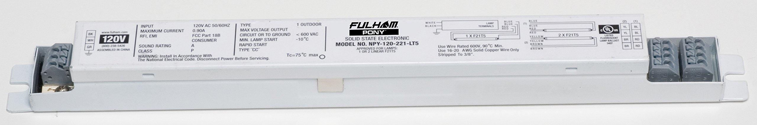 Fulham NPY-120-221-LT5 Pony Ballast