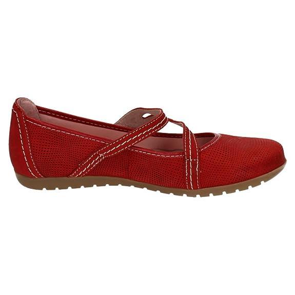 NOELIA Zapatos_172 Mocasines DE Piel Mujer Zapatos MOCASÍN Rojo 37: Amazon.es: Zapatos y complementos