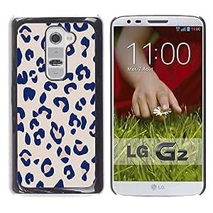 LASTONE PHONE CASE / Slim Protector Hard Shell Cover Case for LG G2 D800 D802 D802TA D803 VS980 LS980 / Cool Leopard Pattern Pink Beige Fur Print