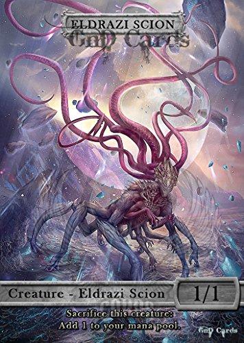 GnD Cards 3X Eldrazi Scion #3 Custom Tokens MTG Battle for Zendikar 12 Piece Altered Art