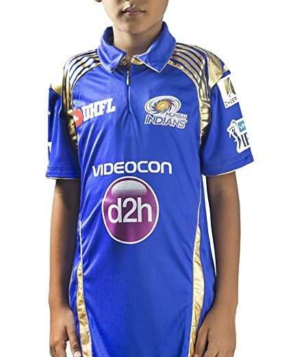 5d6ae59fe Buy Mumbai Indians Match Jersey Kids (9-10) Online at Low Prices in ...