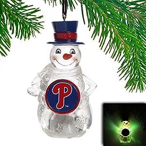 Philadelphia Phillies LED Holiday Snowman Ornament