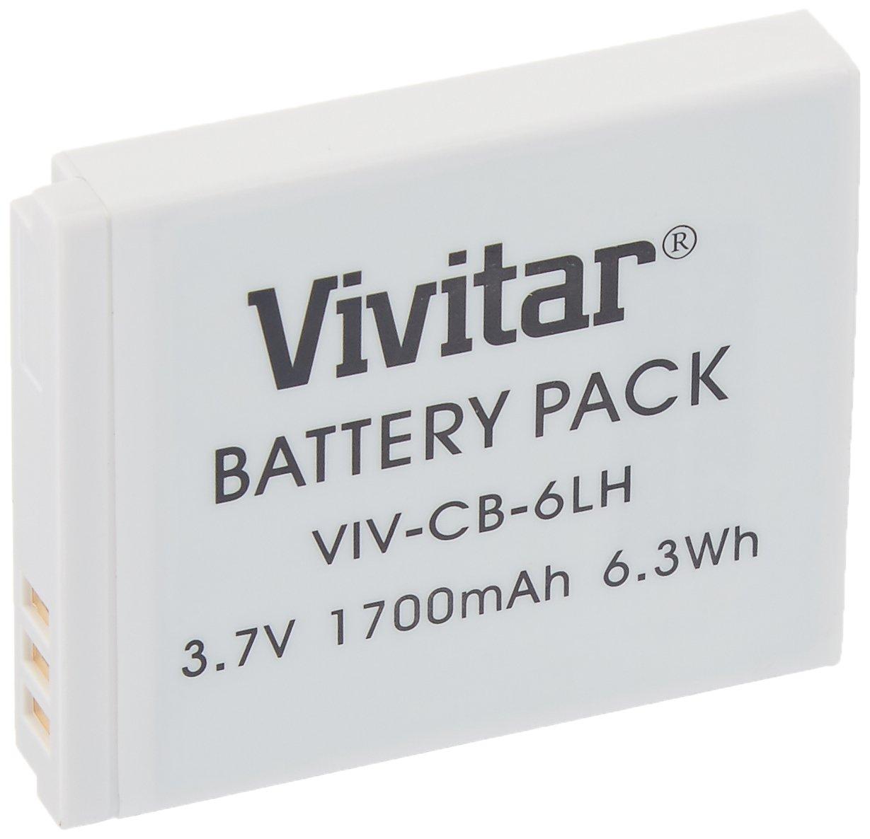Vivitar NB-6L / NB-6LH Ultra High Capacity 1700mAh Li-ion Replacement Battery for Select Canon Digital Cameras
