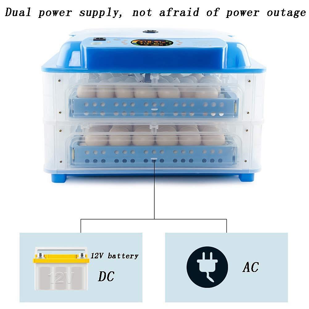 64//128 Eier Digital Temperaturregelung Zum Huhn Ente Gans Und Wachtel Farbe : 110V, gr/ö/ße : L Inkubatoren Zum Schraffur Eier Automatischer Wendefunktion