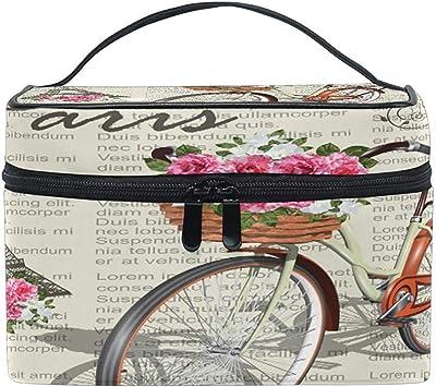 Estuche de Maquillaje portátil de Viaje Vintage París Torre Eiffel Bolsa de cosméticos de Bicicleta para Pinceles de Maquillaje Accesorios de joyería Accesorios Digitales: Amazon.es: Equipaje