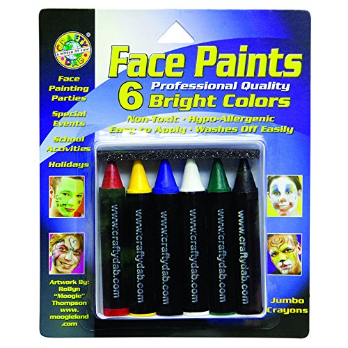 CRAFTY DAB - A DIV. OF C J VENNE LL CRAFTY DAB JUMBO CRAYON FACE 6 PK (Set of 24)