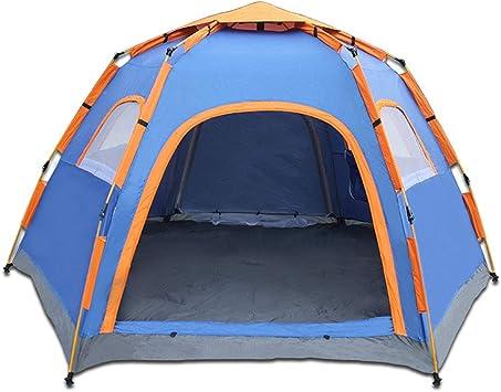 WZFC Tienda de campaña Familiar Impermeable, Multifuncional Doble Capa Automático al Aire Libre Senderismo Tiendas de Dormir para 5-8 Personas,Blue: Amazon.es: Deportes y aire libre