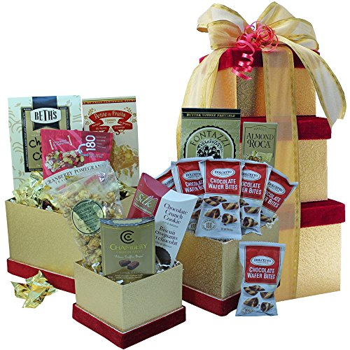 All Sweets and Treats Gift Tower (Chocolate) (Wine And Chocolate Hampers)