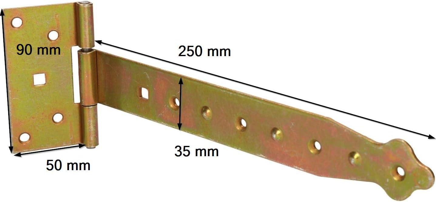 Bisagra para puerta de jard/ín 100-400 mm, galvanizada Amarillo KOTARBAU