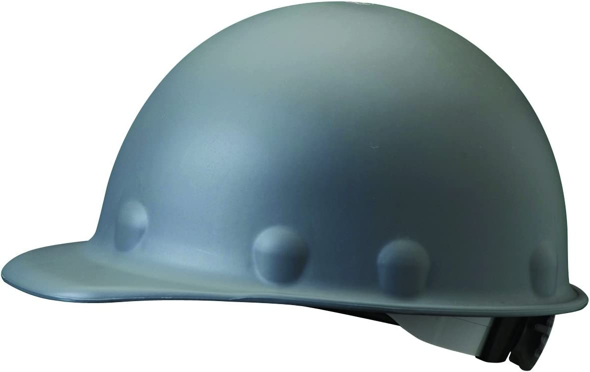 Fibre-Metal by Honeywell P2ARW09A000 Super Eight Ratchet Fiber Glass Cap Style Hard Hat, Grey